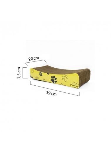 Artikel 39X7,5X20Cm Ondüle Karton Kedi Tırmalama Tahtası Renkli